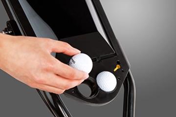 EasyPal 4-Rad Golf Trolley mit Robotik Funktion in Weiß und EU-Netzteil - 4