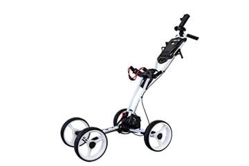 EasyPal 4-Rad Golf Trolley mit Robotik Funktion in Weiß und EU-Netzteil - 7