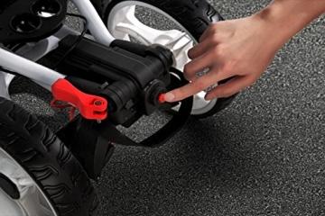 EasyPal 4-Rad Golf Trolley mit Robotik Funktion in Weiß und EU-Netzteil - 6