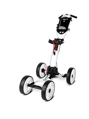 EasyPal 4-Rad Golf Trolley mit Robotik Funktion in Weiß und EU-Netzteil - 9
